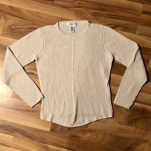 Talbots Sweaters - Talbots cream colored crew neck sweater.
